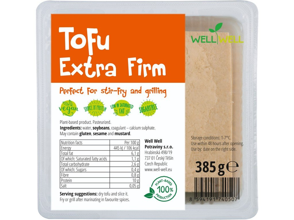 Tofu extra firm 385g Well Well