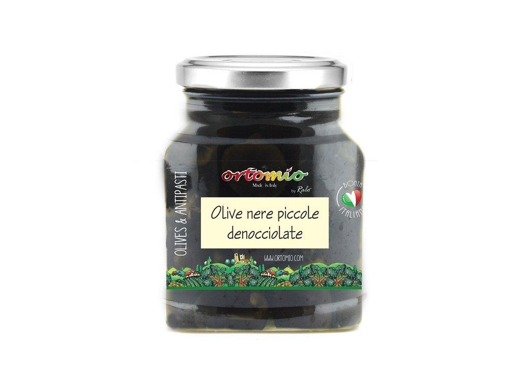 Ortomio Černé olivy bez pecky ve slaném nálevu, 314 ml