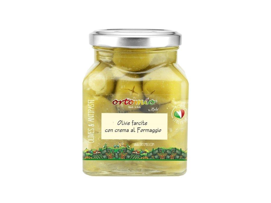 Ortomio Olivy plněné krémem Pecorino, 314 ml
