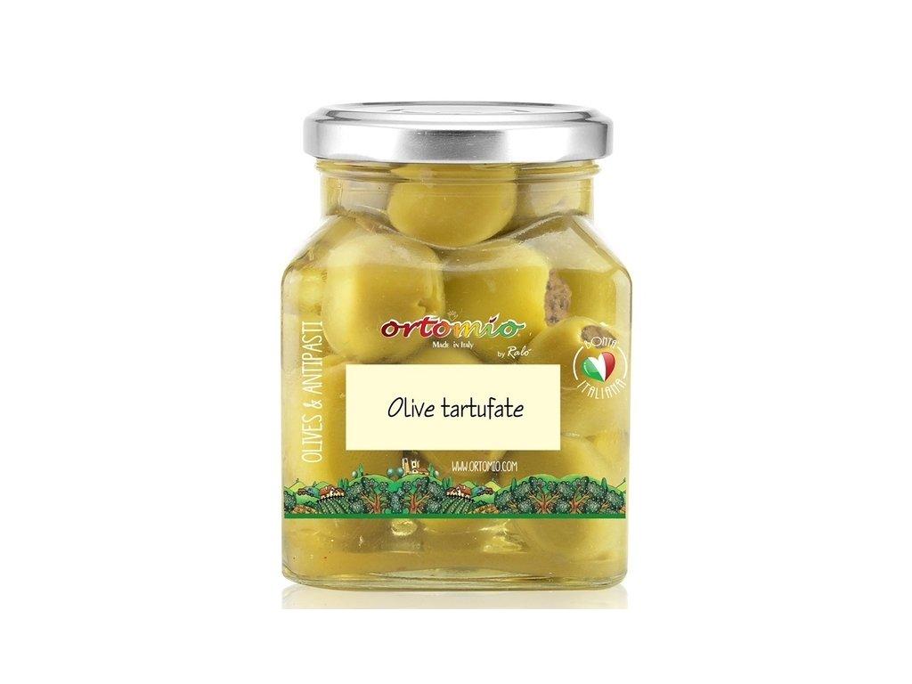 Ortomio Olivy plněné černým lanýžem, 314 ml