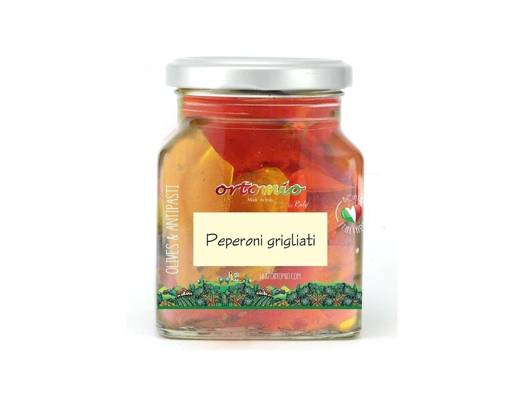 Ortomio Grilované červené a žluté papričky, 314 ml