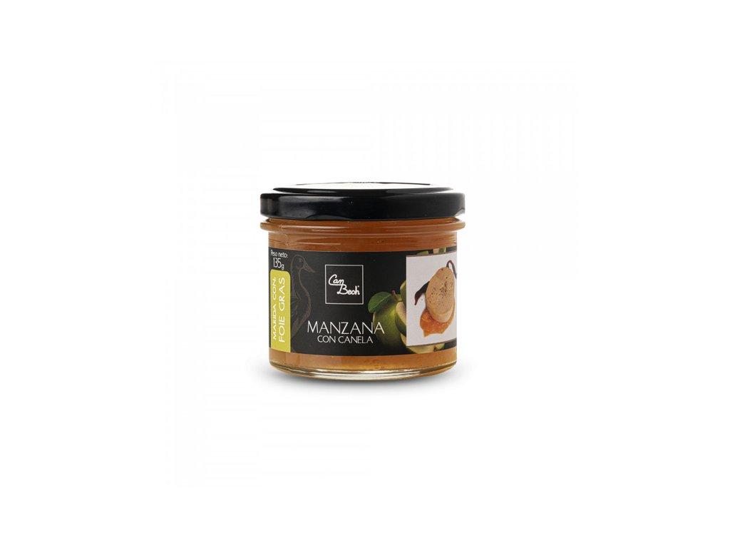Can Bech K Foie Gras - Omáčka z jablek Golden se skořicí, sklo 135g