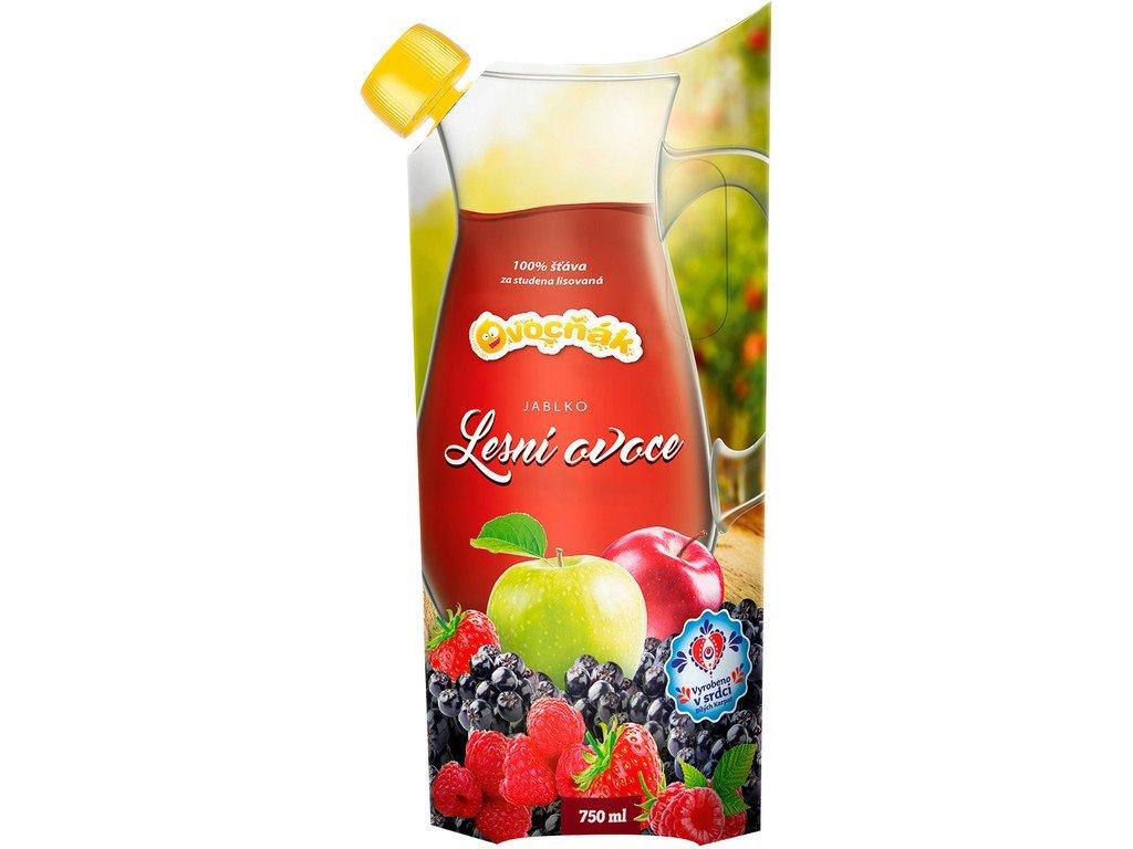 Akce Ovocňák mošt jablko-lesní ovoce 750ml Ovocňák