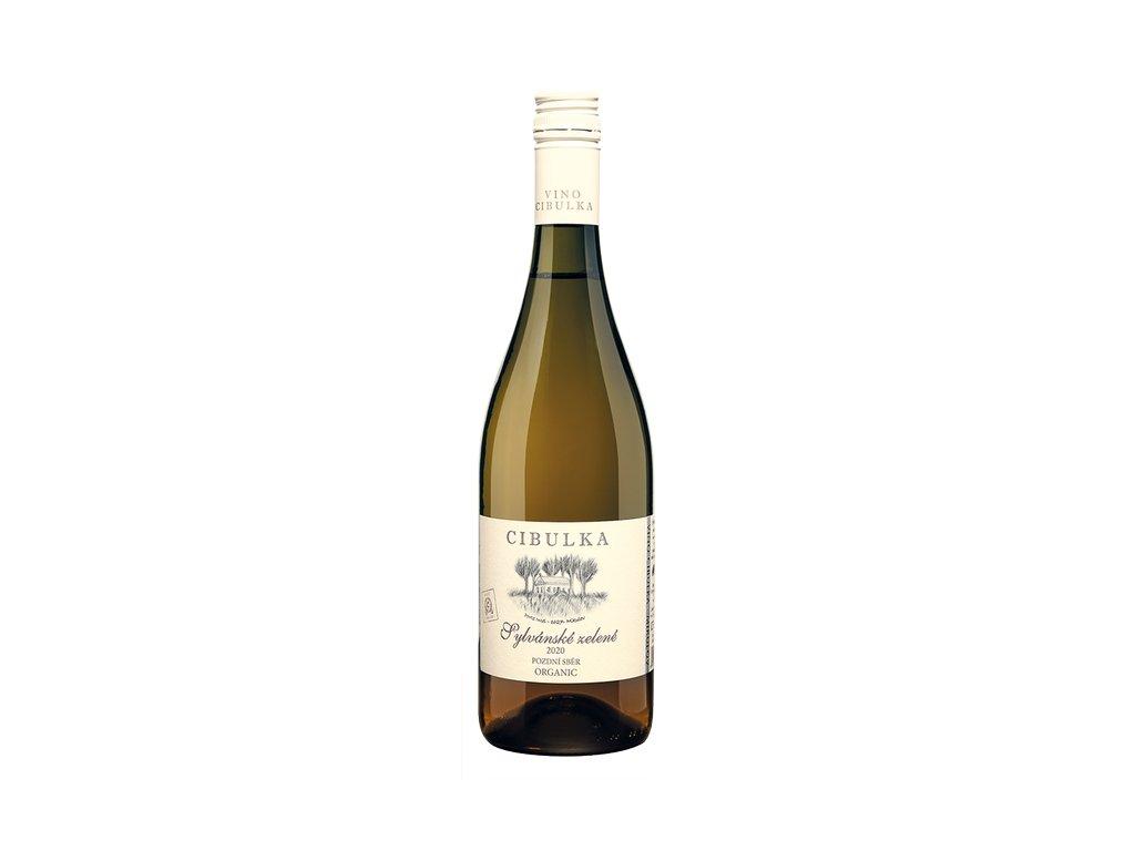 AKCE Víno bílé Sylvánské zelené ročník 2020 - pozdní sběr (suché) 750 ml BIO VINAŘSTVÍ CIBULKA