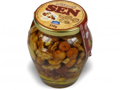 Med s oříškovou směsí 350 g Jankar Profi