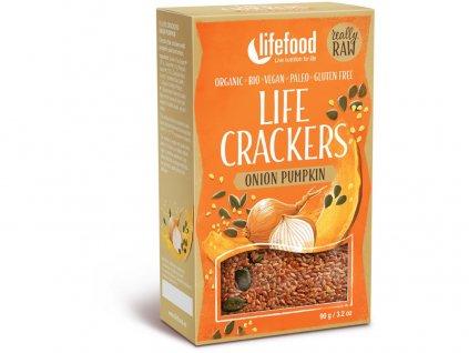 Bio Life crackers Cibulové s dýňovým semínkem 90g Lifefood