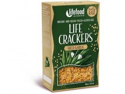 Bio Life crackers s medvědím česnekem 90g Lifefood