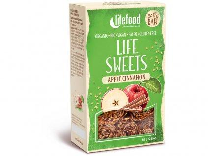 Bio Life sweets Jablečné se skořicí 80g Lifefood