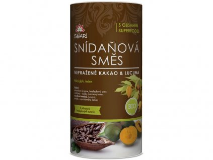 Bio snídaňová směs nepražené kakao & lucuma 800 g Iswari