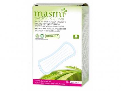 Anatomické slipové vložky z organické bavlny, 30 ks Masmi