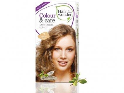 Přírodní dlouhotrvající barva Střední blond 7 100ml Hair Wonder