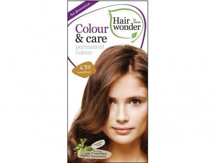 Přírodní dlouhotrvající barva Oříšková 6,35 100ml Hair Wonder
