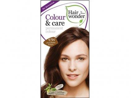 Přírodní dlouhotrvající barva Čokoládově hnědá 5,35 100ml Hair Wonder