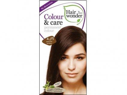 Přírodní dlouhotrvající barva Mocca hnědá 4,03 100ml Hair Wonder