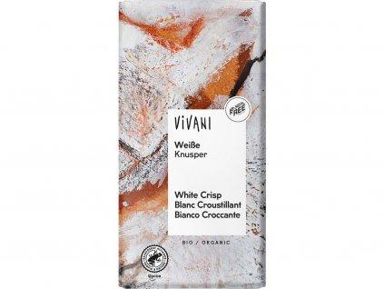 Bio bílá křupavá čokoláda 100g Vivani