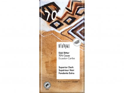 Bio hořká čokoláda 70% 100g Vivani