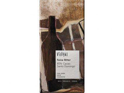 Bio hořká čokoláda 85% 100 g Vivani