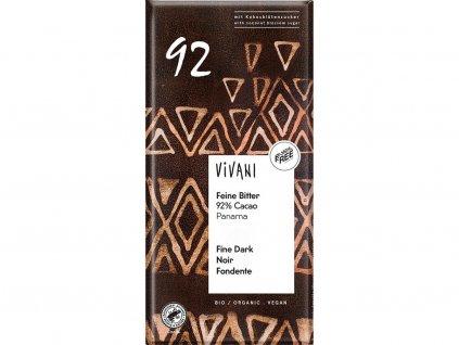 Bio hořká čokoláda 92% 80g Vivani