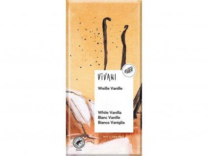 Bio bílá čokoláda s vanilkou 80g Vivani