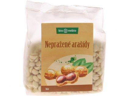 Bio arašídy loupané nepražené 200g Bio nebio