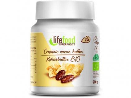 Bio Kakaové máslo nepražené 200g Lifefood