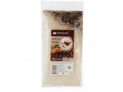 Instantní kaše do hrnku rýžová s vlašskými ořechy a karobem 50g Damodara