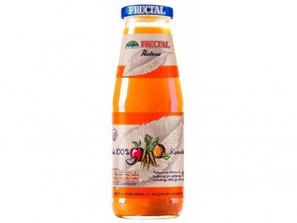 Šťáva NATURA z jablek, mrkve a pomerančů 0,7l Fructal