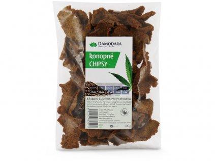 Konopné chipsy 100g Damodara