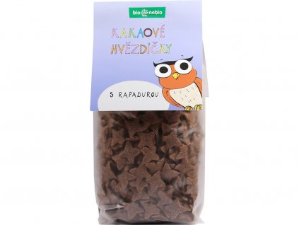 Bio kakaové hvězdičky s rapadurou 150g Bio nebio