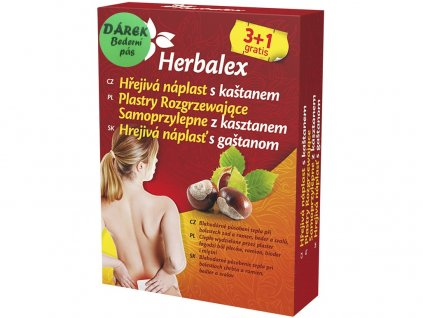 Hřejivé náplasti s kaštanem 4X45g  dárek bederní pás Heralex