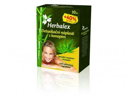 Detoxikační náplastí s konopím 10+40% GRATIS Heralex