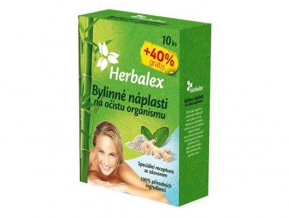 Bylinné náplasti na očistu organismu 10+40% GRATIS 14x9g Heralex