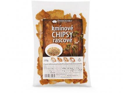 Kmínové chipsy 100g Damodara
