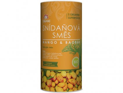 Bio snídaňová směs mango-baobab 800g Iswari