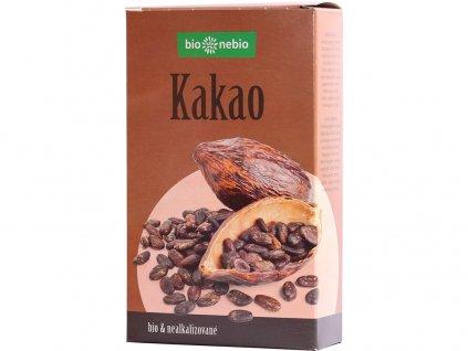 Bio kakaový prášek se sníženým obsahem tuku 150g Bio nebio