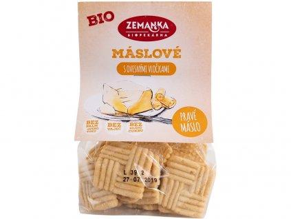 Bio Máslové sušenky s ovesnými vločkami 100 g Biopekárna Zemanka