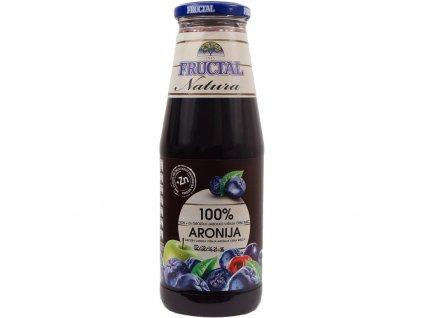 Šťáva NATURA z hroznů, jablek, višní, aronie a černého bezu 0,7l Fructal
