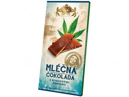 Mléčná čokoláda s konopným semínkem 80g Carla