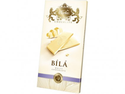 Bílá čokoláda - obdélník 80g Carla