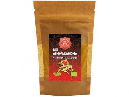 Bio Ajurvéda bylinný prášek Ashwagandha 60g - vitalita-sex-energie Altevita