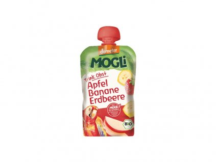Bio Ovocné pyré Moothie jablko banán jahoda bez cukru 100g Mogli
