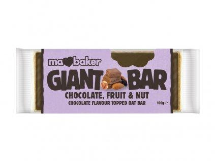 Tyčinka Obří Smoothie Bel.čokoláda+Ovoce+Ořechy 100g Ma Baker