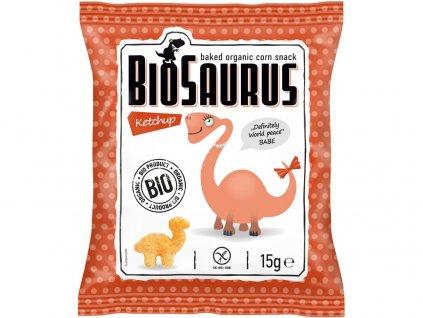 Bio Biosaurus křupky s kečupem 15g Biosaurus