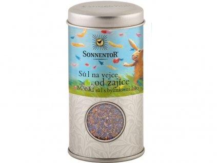Bio Sůl na vejce od zajíce, mořská sůl s bylinkami 90g dózička Sonnentor