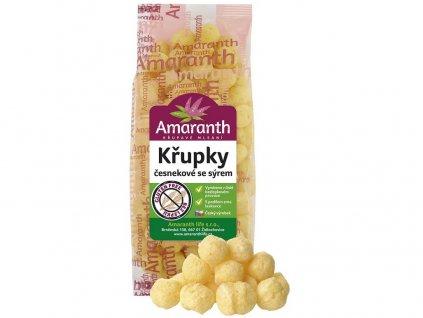 Křupky česnekové se sýrem 80g Amarath
