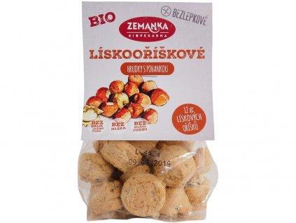 Bio Bezlepkové pohankové hrudky s lískovými oříšky 100g Biopekárna Zemanka