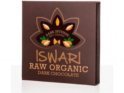 Bio Čokoláda Dark Intense 85% 75g RAW Iswari