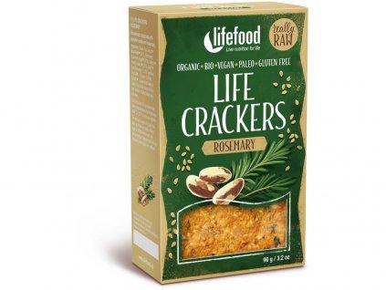 Bio Life crackers Rozmarýnové RAW 90 g Lifefood