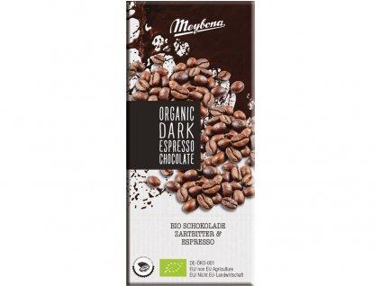 Bio Čokoláda hořká s kávovými zrny 52% 100g Meybona