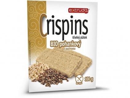 Bio Cereální křehký chléb Crispins pohankový 2x50g Extrudo